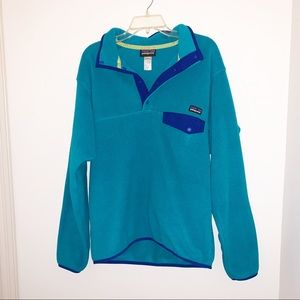Patagonia Synchilla Blue Fleece T Snap Pullover